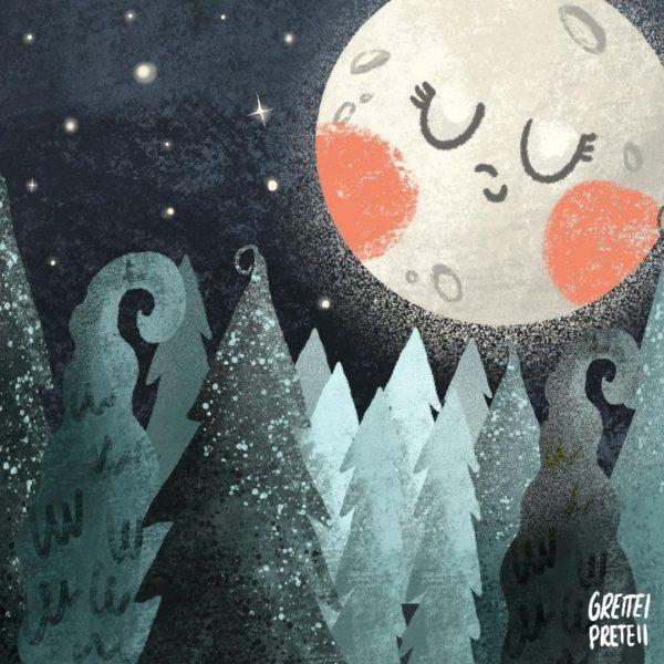 """audiocuentos para niños para la resiliencia en el New Normal por Covid: """"La luna, la bruja y el bosque"""""""