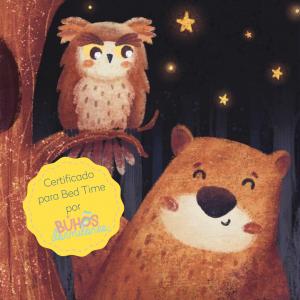 """audio cuento para niño que ayuda a los niños a superar el miedo a la noche. """"Las noches de octavio"""" Certificado para Bed time por Buhos dormilones."""