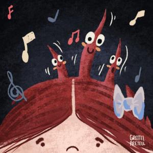 """audio cuento que enseña a los niños. para hacer mas fácil la secada de pelo """"La fiesta peluda"""""""