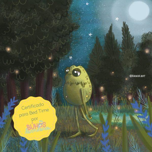 """Audio cuento para porder ayudarlos a dormir """"El sueño y el sapo"""". Un sapo caminando en medio del bosque en medio de la oscurird"""